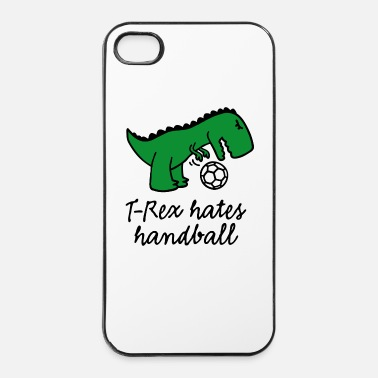 Gardien De But T-Rex hates handball handball ballon dinosaure - Coque rigide iPhone 4/4s
