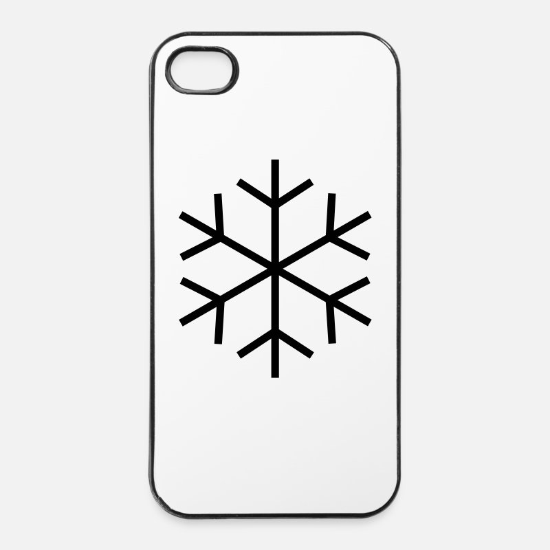 Cool iPhone hoesjes - Symbol for cold / ice - iPhone 4/4s hoesje wit/zwart