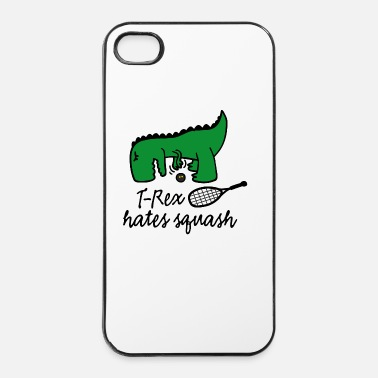 Court T-Rex hates squash squash dinosaur ball player - iPhone 4 & 4s Case