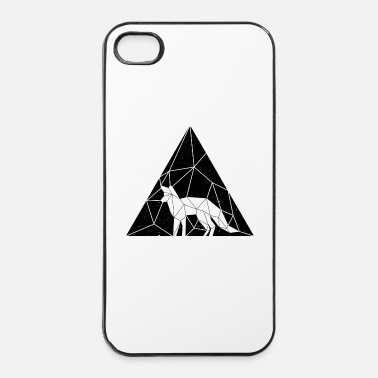 Tampon geometric-animal_renard-f - Coque rigide iPhone 4/4s