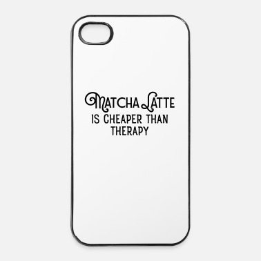 Latte Matcha Latte Is Cheaper Than Therapy - Custodia rigida per iPhone 4/4s