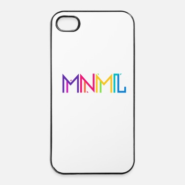 Hardstyle Minimal Type (Colorful) Typograhoy - MNML Design - iPhone 4/4s kovakotelo