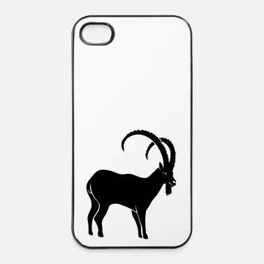 Alpes bouquetin capricorne chèvre mouton les Alpes roc - Coque rigide iPhone 4/4s