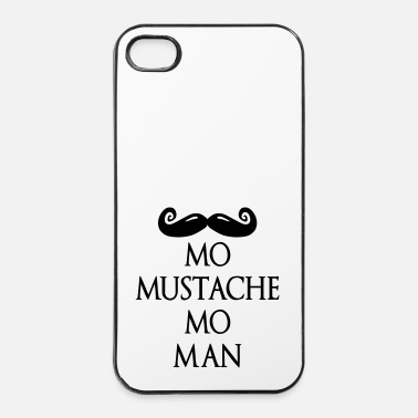 Male more mustache more man deluxe - Custodia rigida per iPhone 4/4s