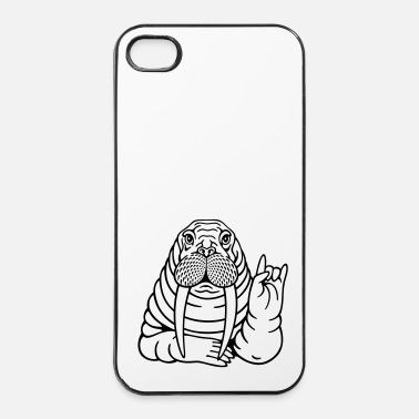 Cornes walrus (a) - Coque rigide iPhone 4/4s