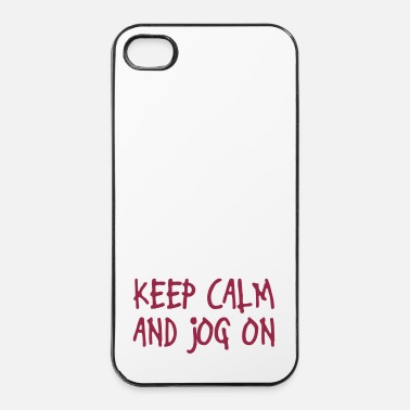 Correr keep calm and jog on - Carcasa iPhone 4/4s