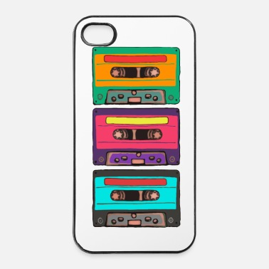 Cassette Colorful Cassettes Retro - iPhone 4 & 4s Case