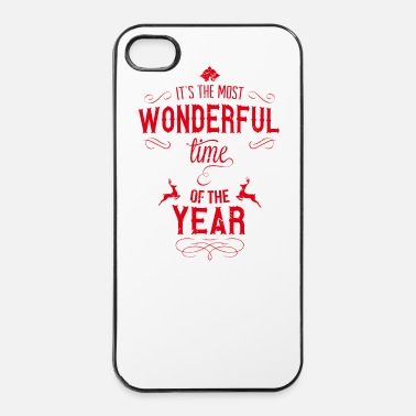 Xmas most_wonderful_time_of_the_year_r - Coque rigide iPhone 4/4s