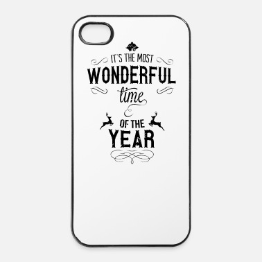 Xmas most_wonderful_time_of_the_year_b - Coque rigide iPhone 4/4s