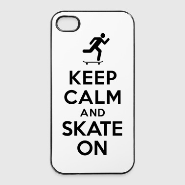 Keep calm and skate on - Coque rigide iPhone 4/4s