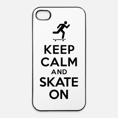 Skateboard Keep calm and skate on - Coque rigide iPhone 4/4s