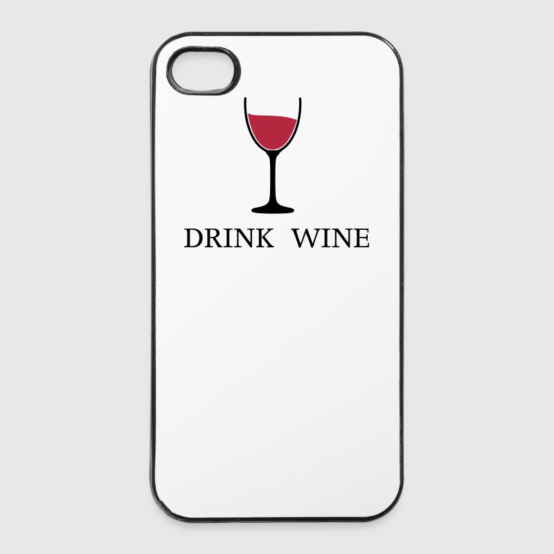 Drink Wine Weinglas Trink Wein 2c - iPhone 4/4s Hard Case