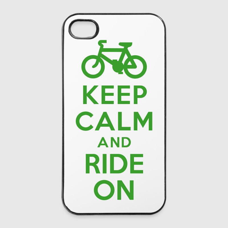 Keep calm and ride on bike - Coque rigide iPhone 4/4s