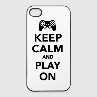 Keep calm and Play on - iPhone 4/4s Hard Case