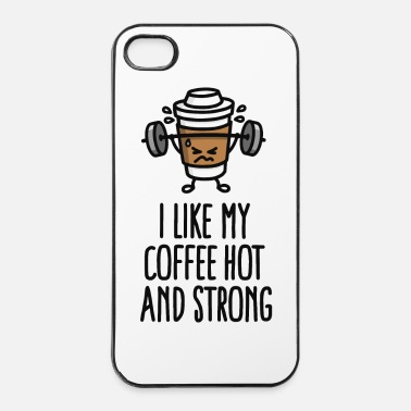 Eroe I like my coffee hot and strong - Custodia rigida per iPhone 4/4s