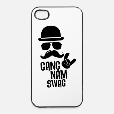 Style Like a Gangnam swag style moustache boss t-shirts - iPhone 4/4s hard case