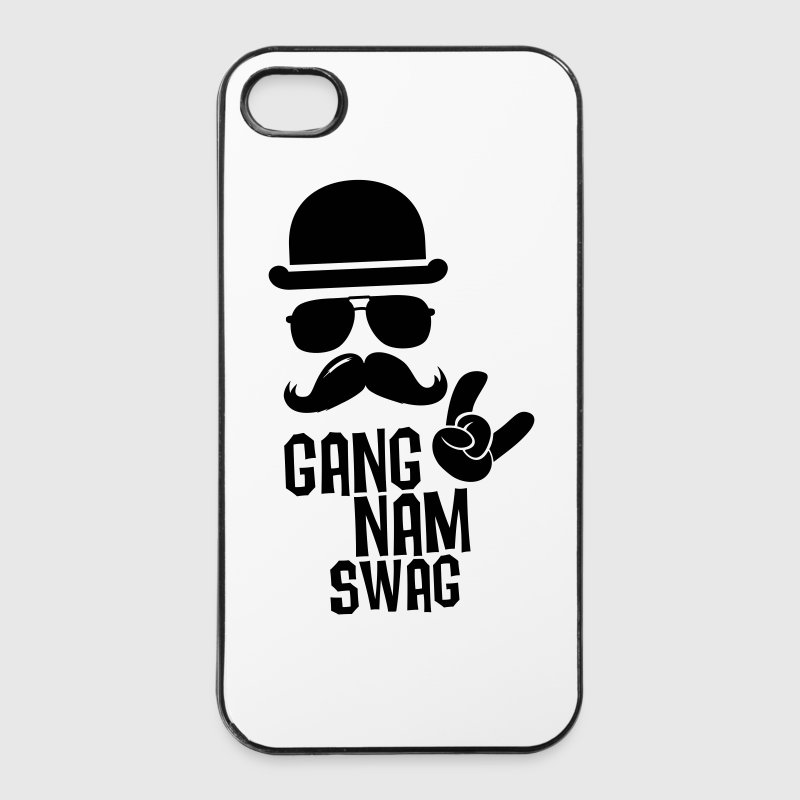 Like a Gangnam swag style boss moustache t-shirts - iPhone 4/4s Hard Case