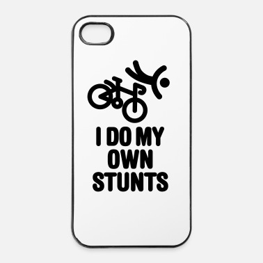 Ciclismo I do my own stunts - racing bicycle - Custodia rigida per iPhone 4/4s
