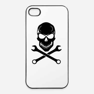 Motocross Car Tuning / Car & Bike Wrench - Skull - iPhone 4 & 4s Case