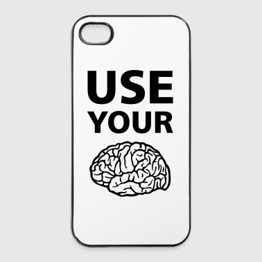 Use Your Brain - Drôle / Slogan / - Coque rigide iPhone 4/4s