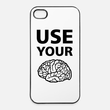 Política  Use Your Brain - Funny Statement / Slogan - Carcasa iPhone 4/4s