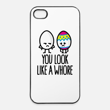 Daughters You look like a whore funny easter egg cartoon - iPhone 4 & 4s Case