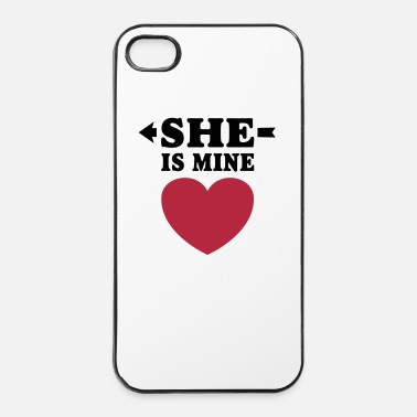 Vaimo She is Mine I love you my Girlfriend Freundin Girl - iPhone 4/4s kovakotelo
