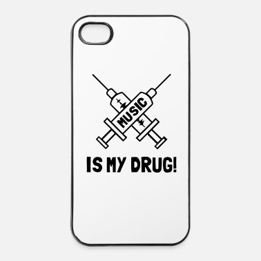 Metal Musique Music Is My Drug - Love Music - Coque rigide iPhone 4/4s