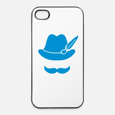 Beierse Cool Moustache (Hat)  Oktoberfest - Outfit - iPhone 4/4s hard case