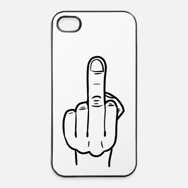 Doigt middle finger lineart - Coque rigide iPhone 4/4s