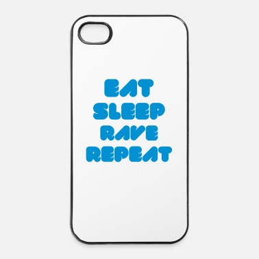 Wear  EAT SLEEP RAVE REPEAT - Coque rigide iPhone 4/4s