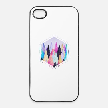 Driehoek Hipster driehoeken (geometrie) Abstract Bergen  - iPhone 4/4s hard case
