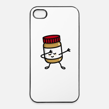 But Dab Dabbing peanut butter jar - Coque rigide iPhone 4/4s
