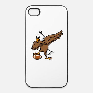 Palla Dabbing dab American Eagle American football rugby - Custodia rigida per iPhone 4/4s