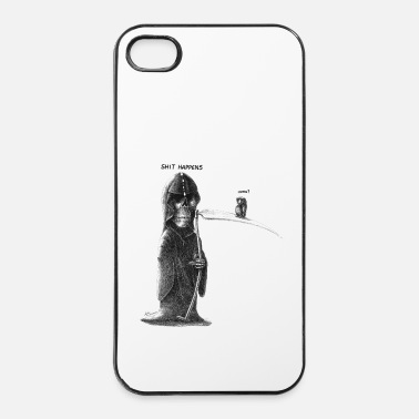 Tekening shit happens - iPhone 4/4s hard case