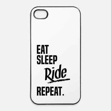 Lol EAT SLEEP RIDE - iPhone 4/4s hard case