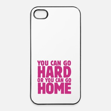 Dubstep you can go hard or you can go home 1c - Coque rigide iPhone 4/4s