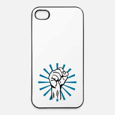 Politica fist 2c rays - Custodia rigida per iPhone 4/4s