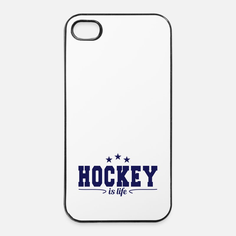 Hockey Carcasas iPhone - hockey is life 4 - Funda para iPhone 4 & 4s blanca/negro