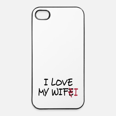 Online I love my wife I / I love my wifi II 2c - Hårt iPhone 4/4s-skal
