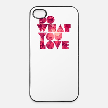 Carriera Do What You Love (Low Poly) - Custodia rigida per iPhone 4/4s