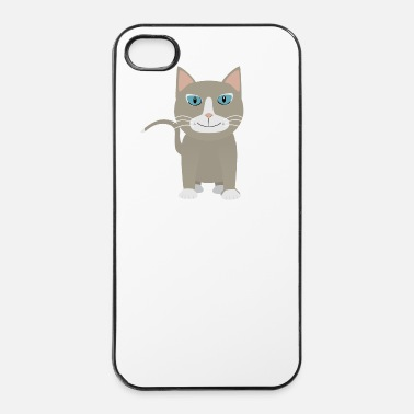 Kawaii Grå katt - Hårt iPhone 4/4s-skal