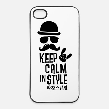 Apocalypse Like a keep calm in style moustache boss t-shirts - Coque rigide iPhone 4/4s