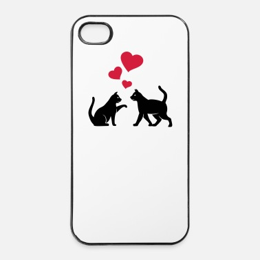 Tombe Chats dans l'amour - Coque rigide iPhone 4/4s