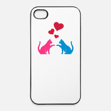 Amore Gatto amore - Custodia rigida per iPhone 4/4s