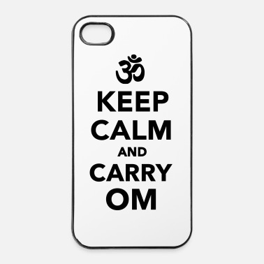 Om Keep calm and carry om - iPhone 4/4s Hard Case