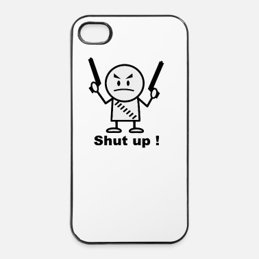 Rivoluzione shut up - Custodia rigida per iPhone 4/4s