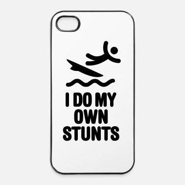 Zee I do my own stunts surfer kite surfing surf dude - iPhone 4/4s hard case