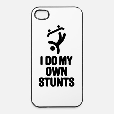 Boarder I do my own stunts skateboard skateboarding skate - Coque rigide iPhone 4/4s