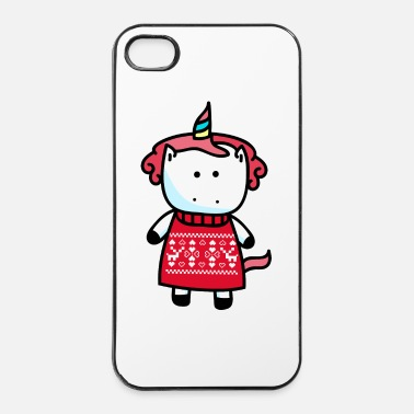 Cold Unicorn Ugly chrismas - iPhone 4 & 4s Case